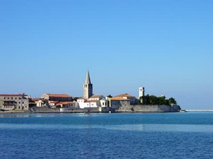 The old town of Poreč and the Eufrasian Basilic.