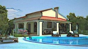 bungalow, Kaštelir, Kroatie, Vila Riviera